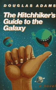 "Cover des englischen ""Hitchhiker's Guide to the Galaxy"""